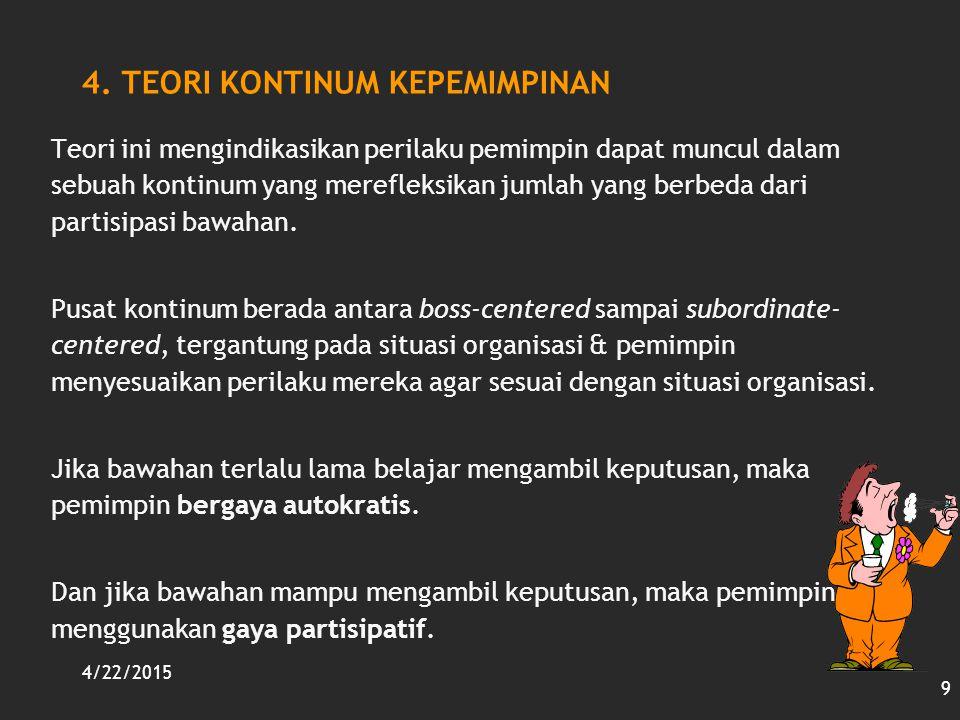 4. TEORI KONTINUM KEPEMIMPINAN
