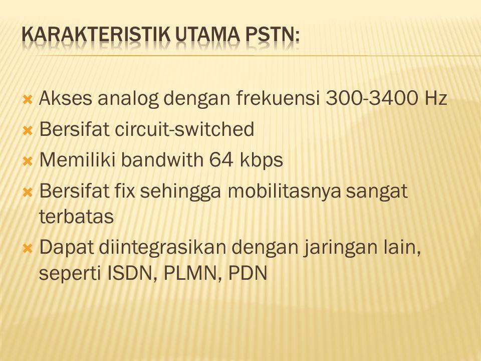 Karakteristik utama PSTN: