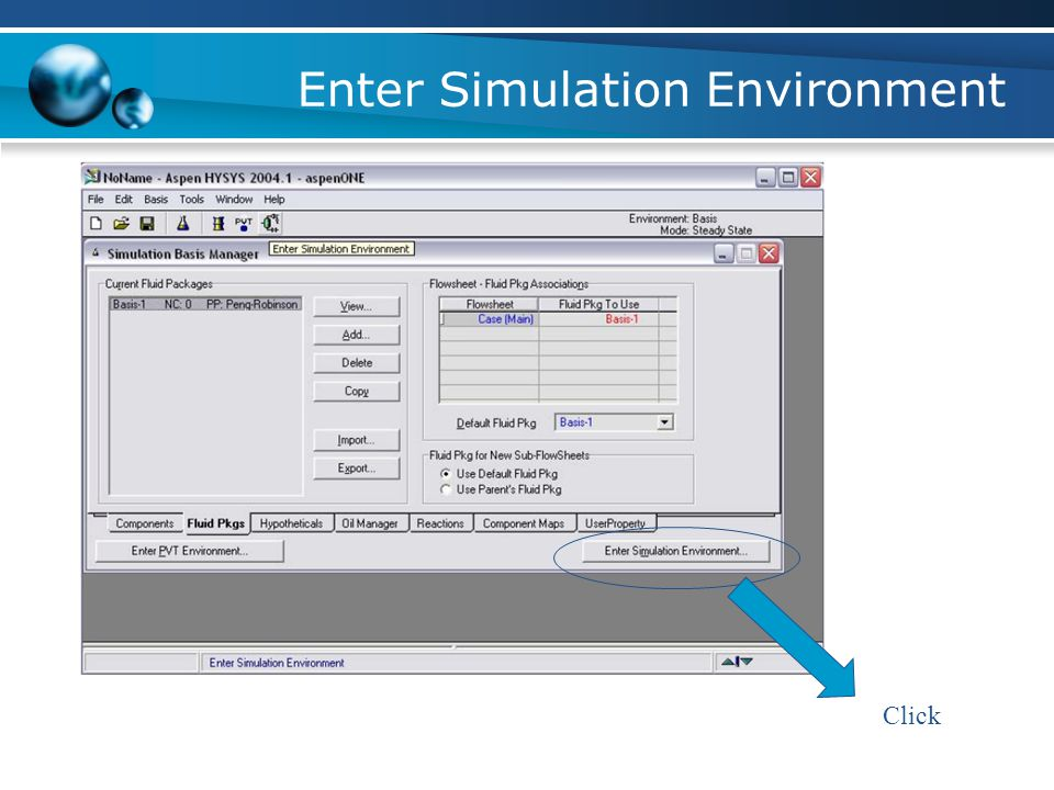Enter Simulation Environment