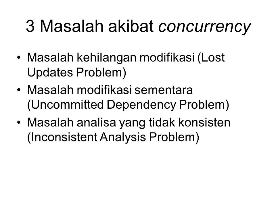 3 Masalah akibat concurrency