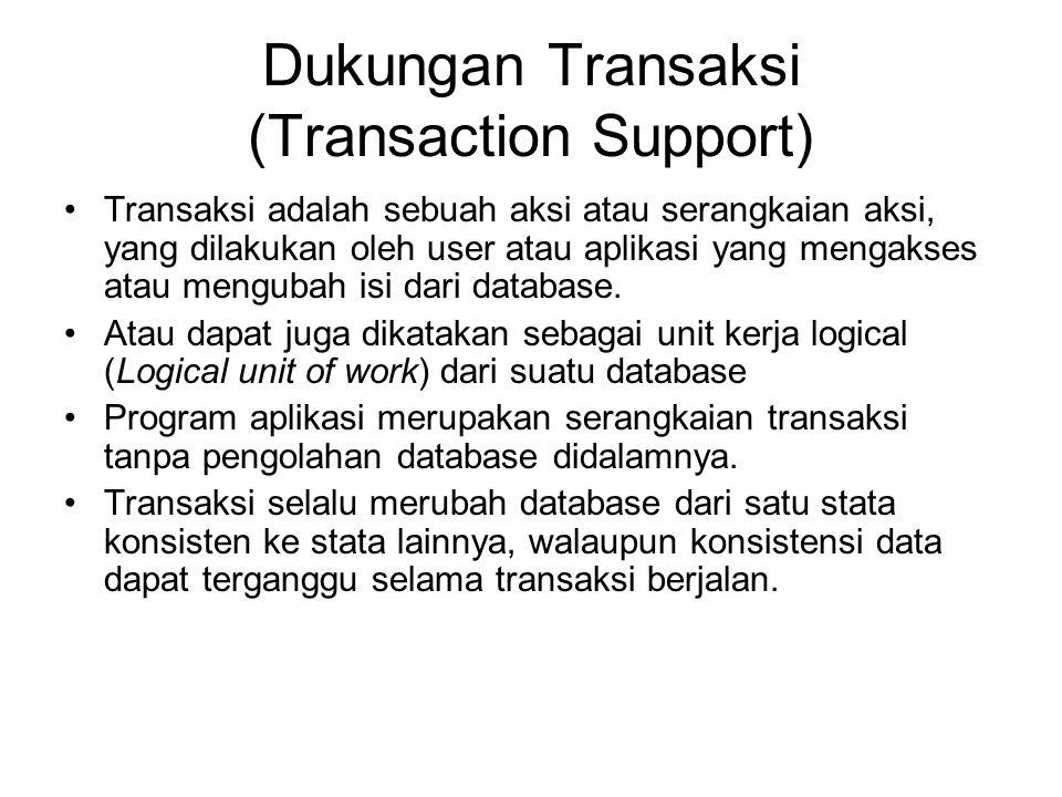 Dukungan Transaksi (Transaction Support)