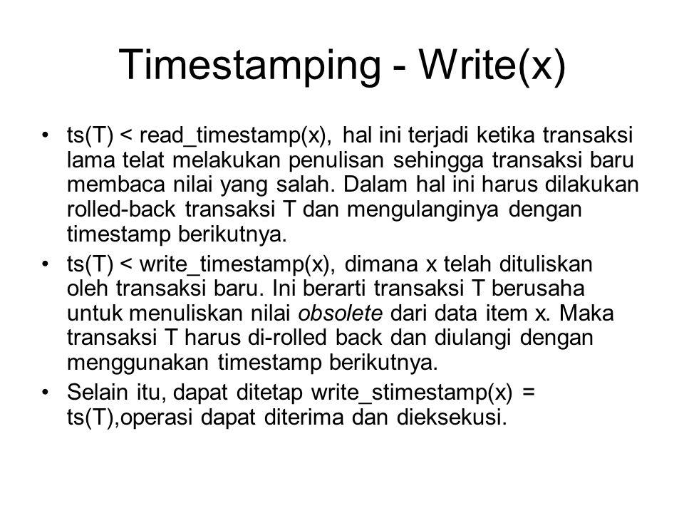 Timestamping - Write(x)