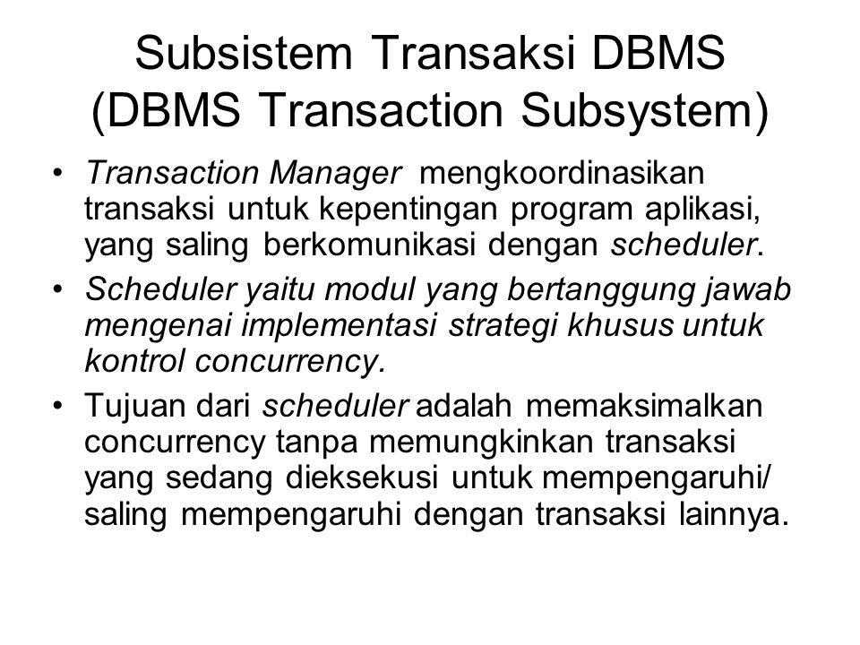 Subsistem Transaksi DBMS (DBMS Transaction Subsystem)