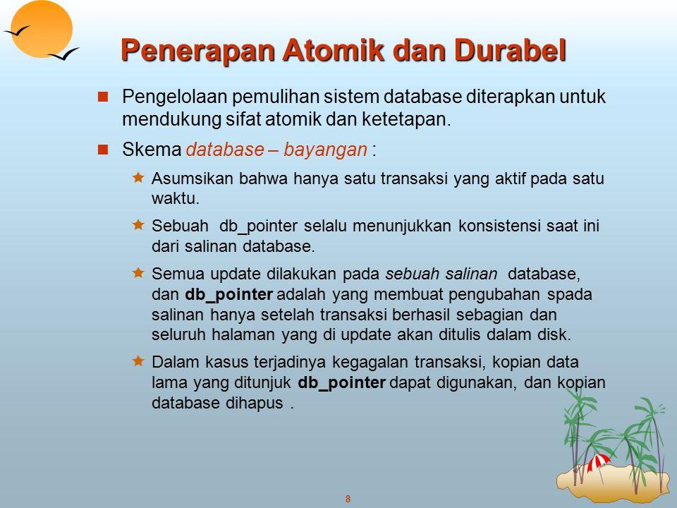 Penerapan Atomik dan Durabel