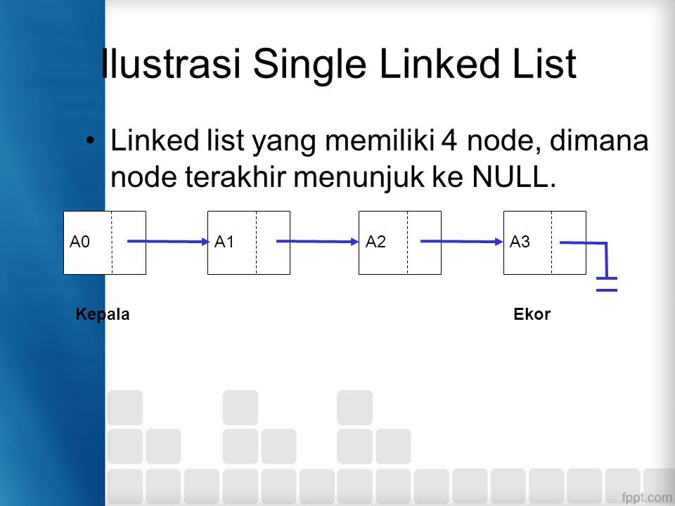 Ilustrasi Single Linked List