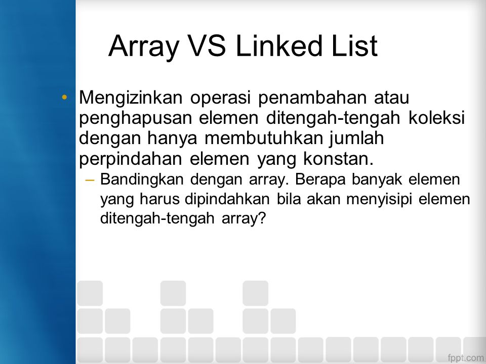 Array VS Linked List