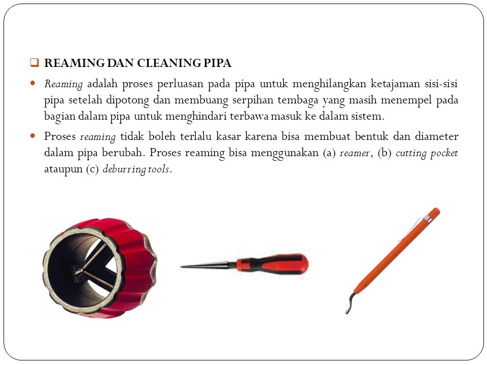 REAMING DAN CLEANING PIPA