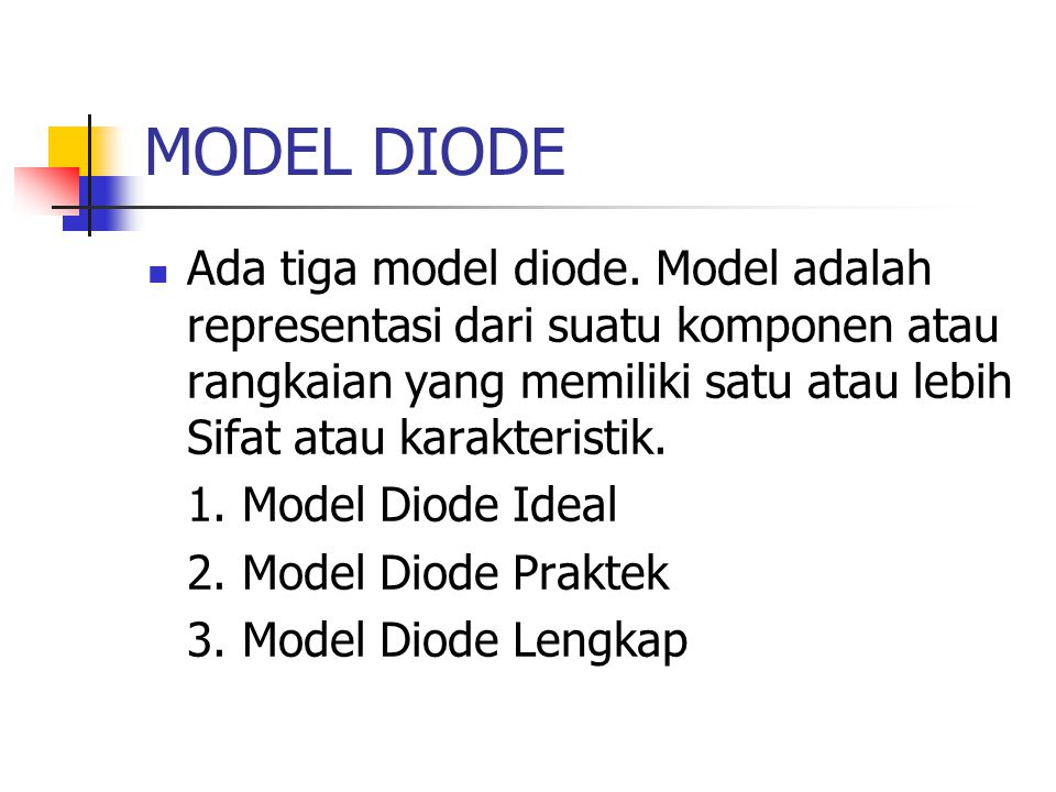 MODEL DIODE