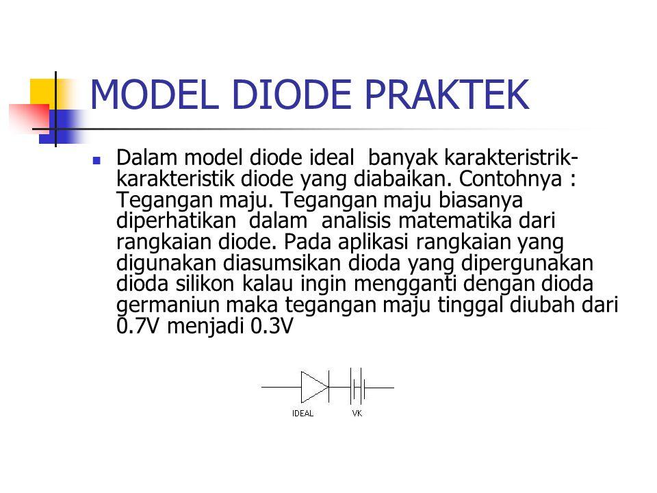 MODEL DIODE PRAKTEK