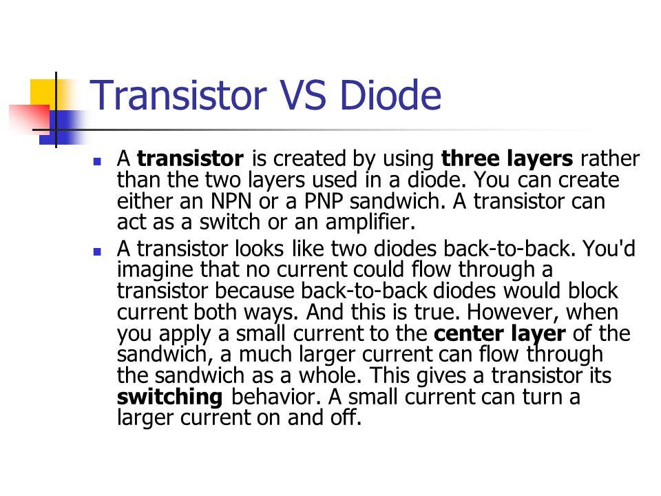 Transistor VS Diode