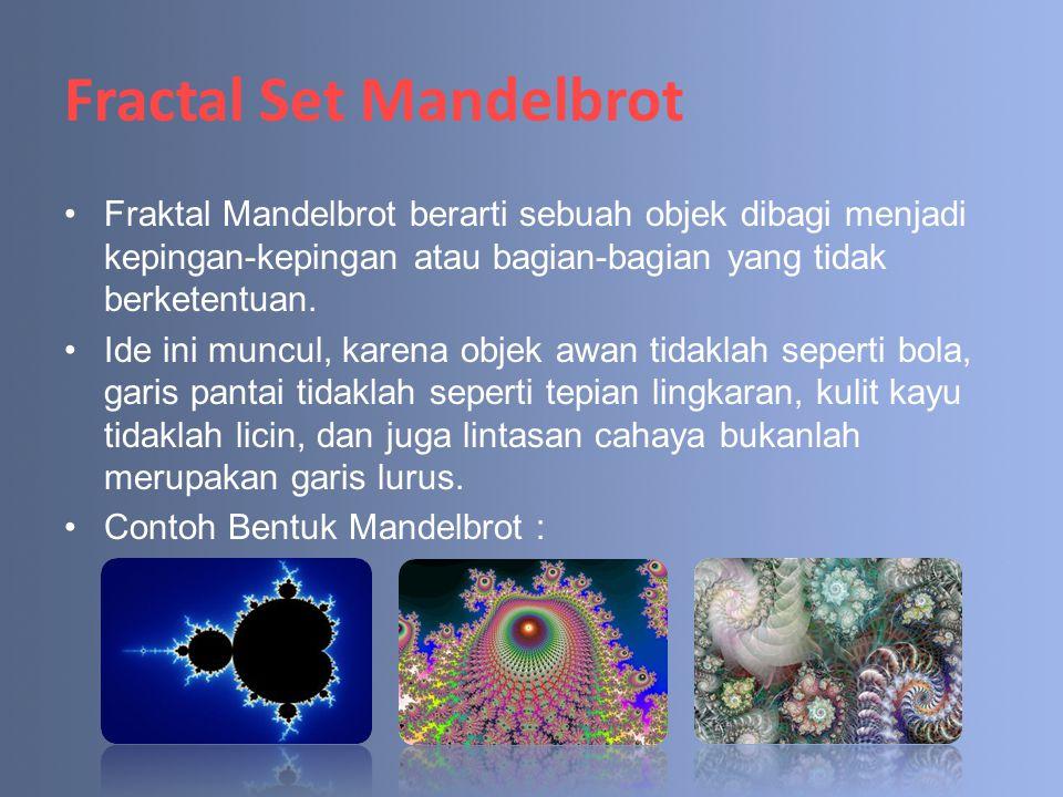 Fractal Set Mandelbrot