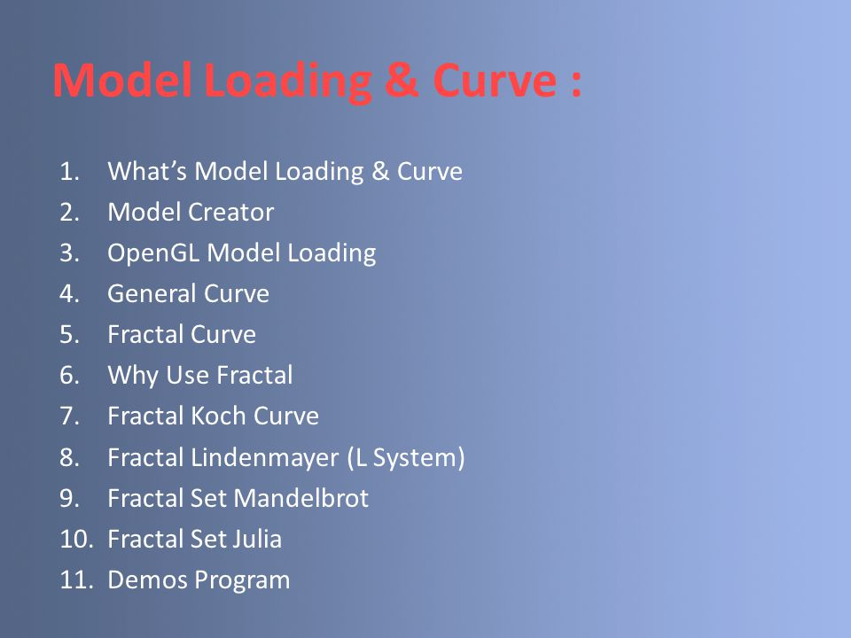 Model Loading & Curve : What's Model Loading & Curve Model Creator