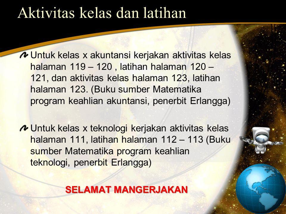 Aktivitas kelas dan latihan
