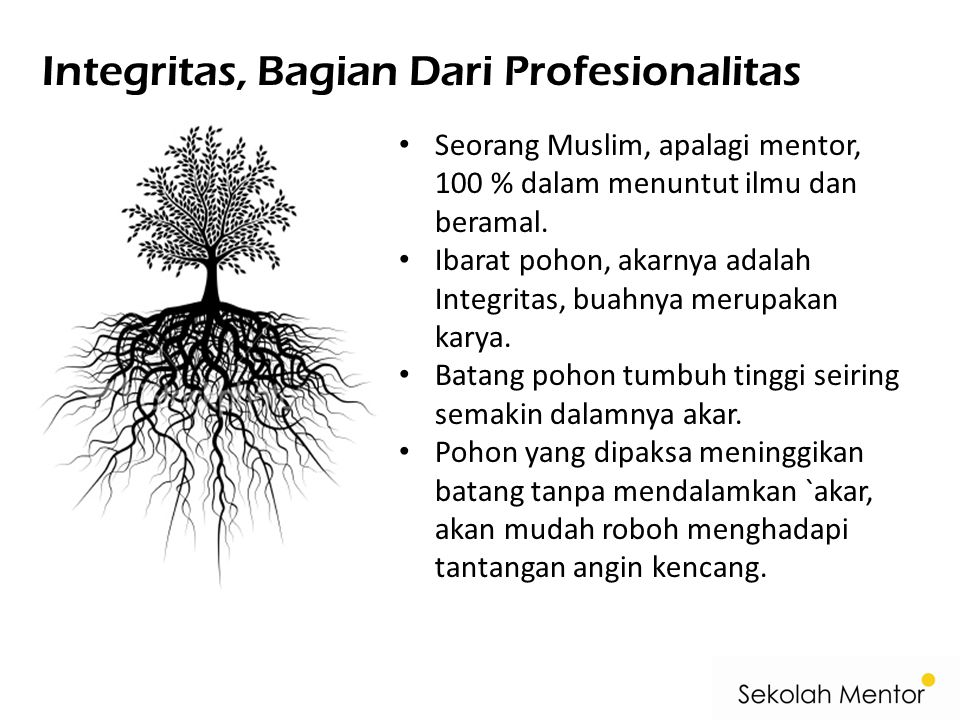Integritas, Bagian Dari Profesionalitas