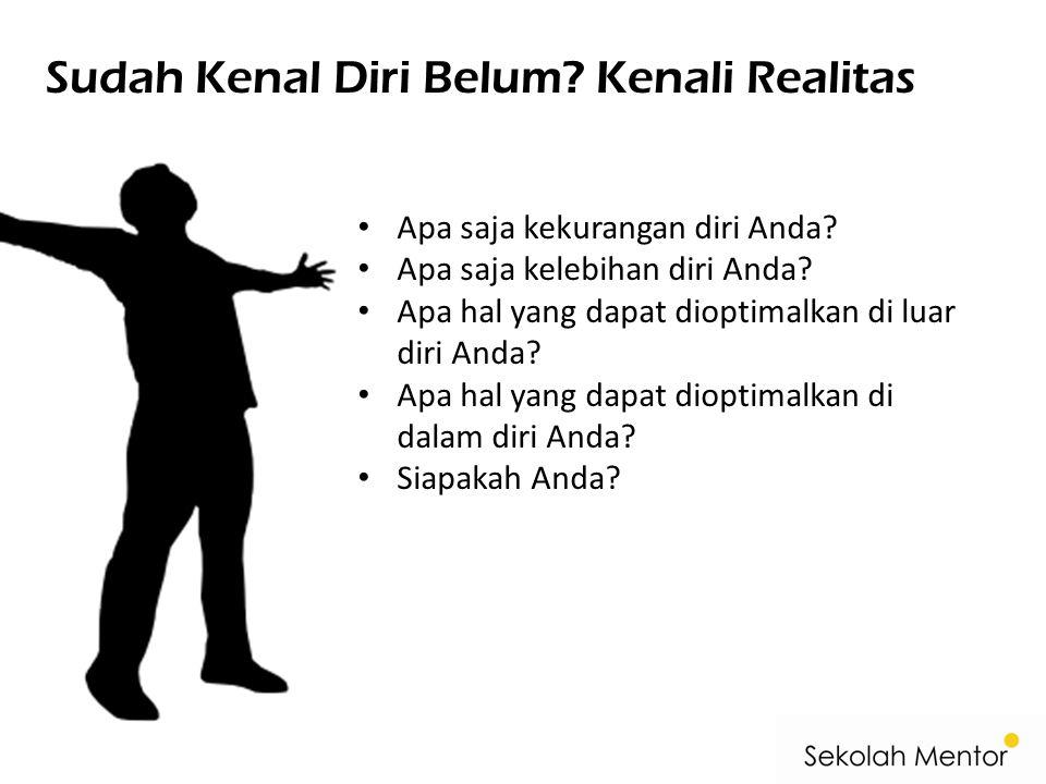 Sudah Kenal Diri Belum Kenali Realitas