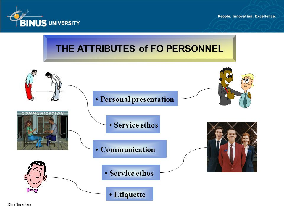 THE ATTRIBUTES of FO PERSONNEL