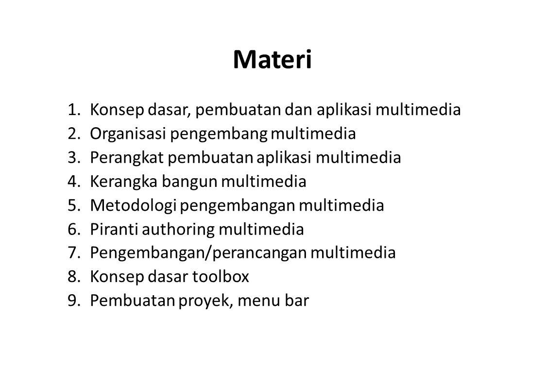 Materi 1. Konsep dasar, pembuatan dan aplikasi multimedia