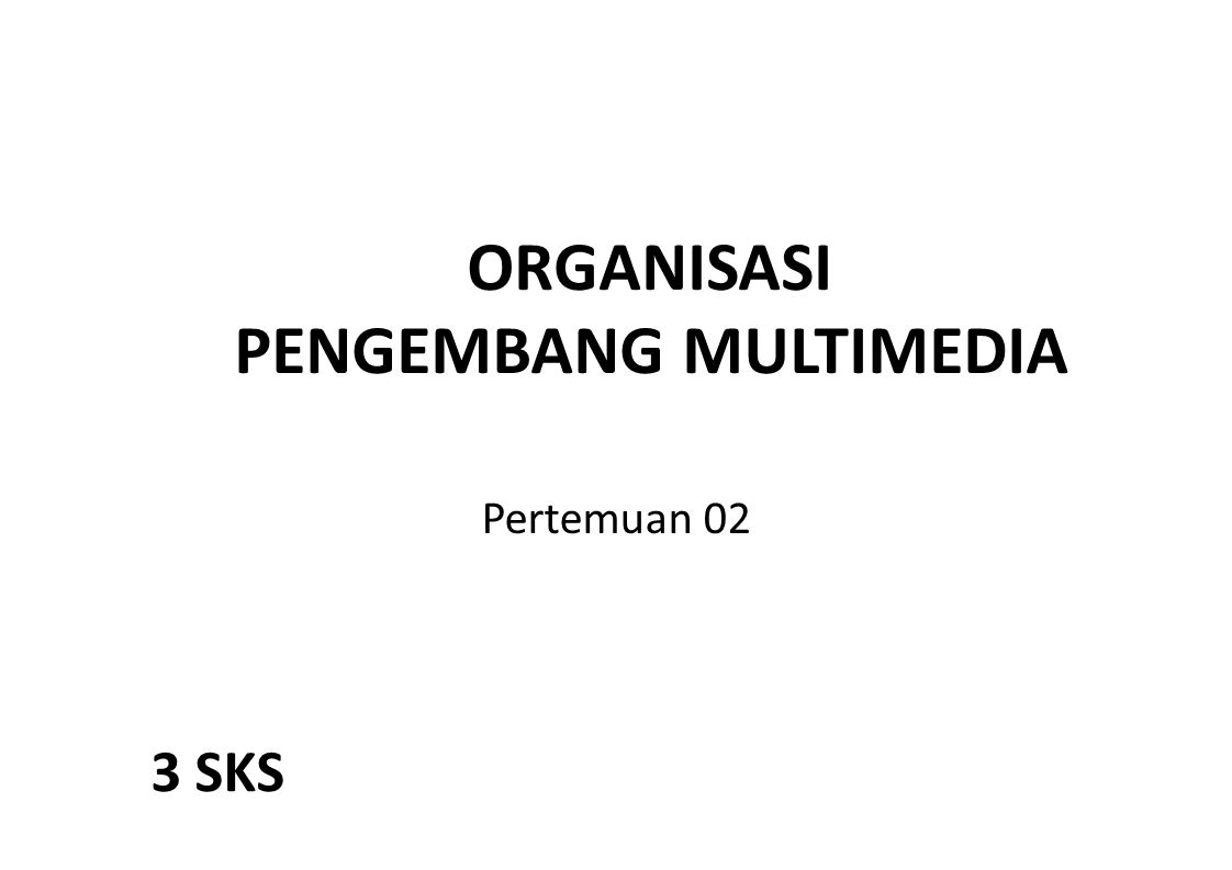 PENGEMBANG MULTIMEDIA