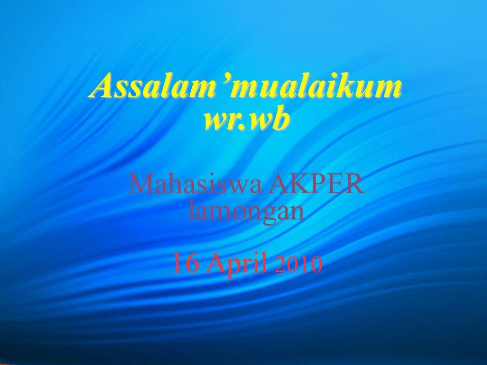 Assalam'mualaikum wr.wb