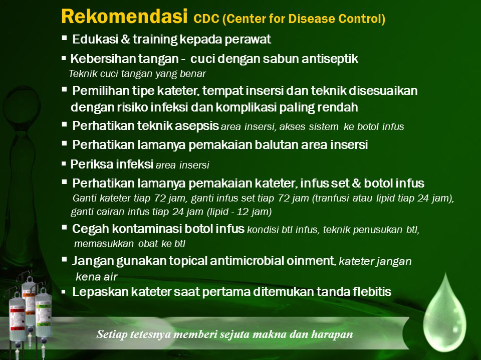 Rekomendasi CDC (Center for Disease Control)