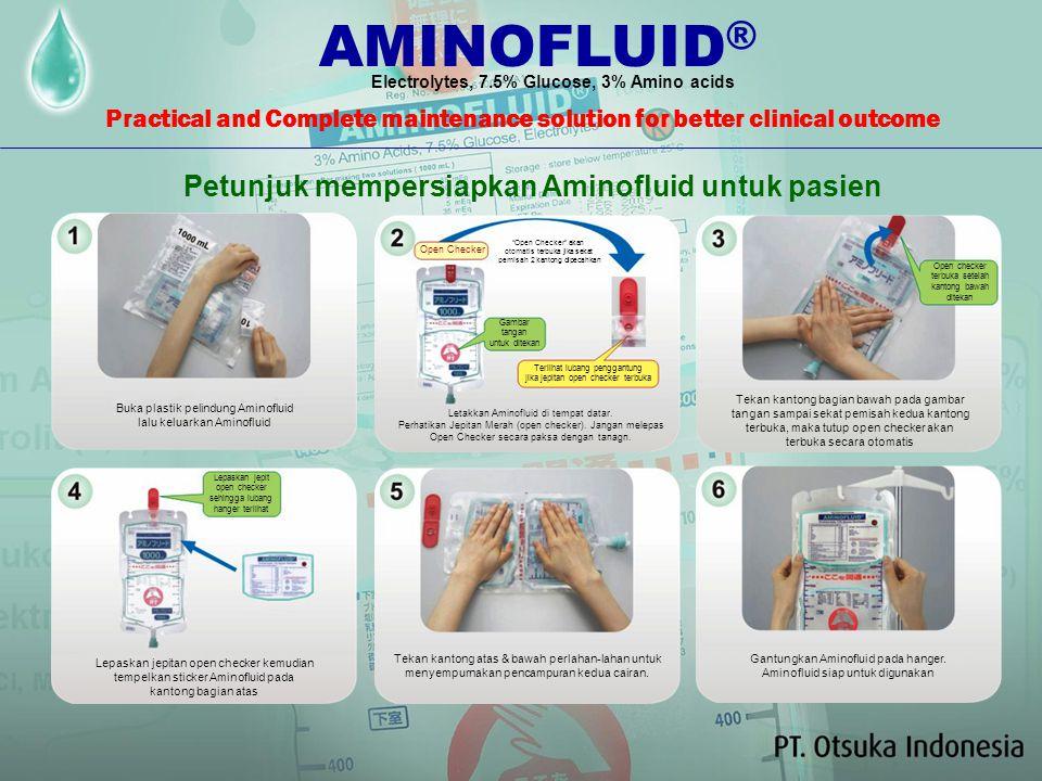 AMINOFLUID® Petunjuk mempersiapkan Aminofluid untuk pasien
