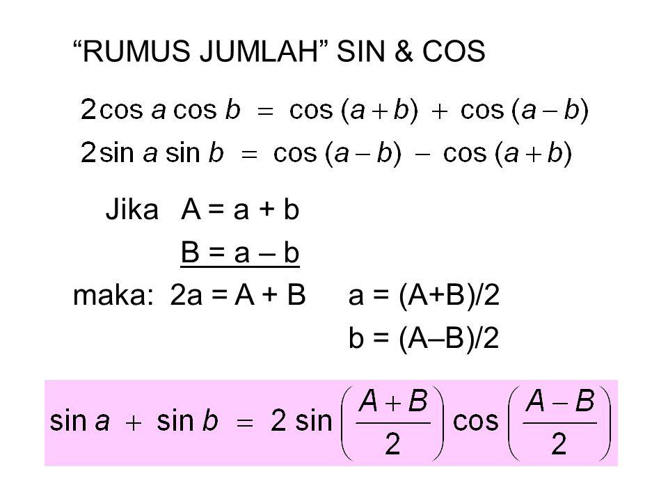 RUMUS JUMLAH SIN & COS