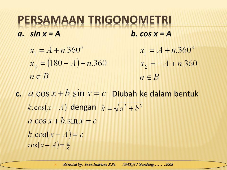 Persamaan Trigonometri