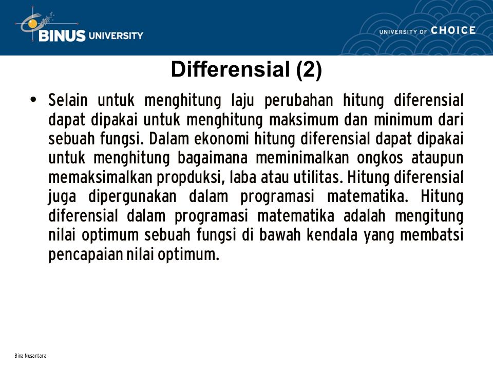 Differensial (2)