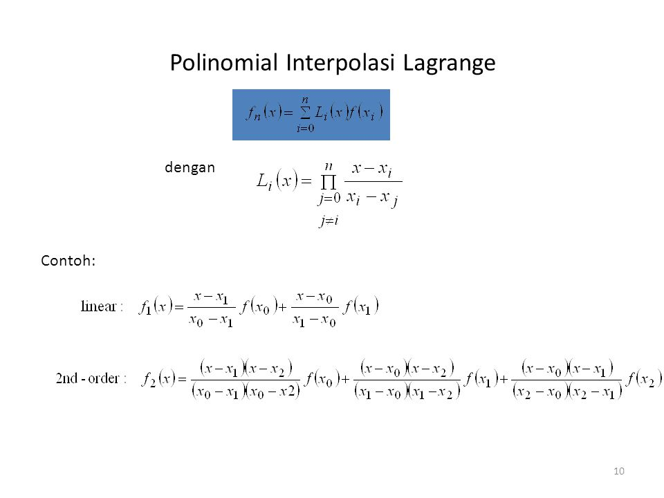 Polinomial Interpolasi Lagrange