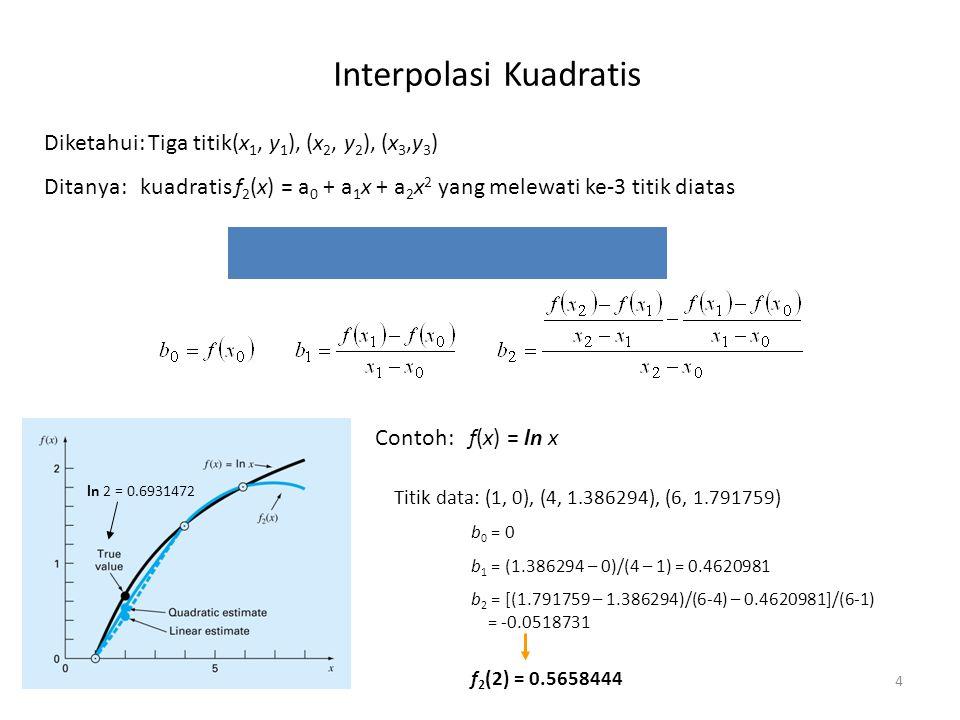 Interpolasi Kuadratis