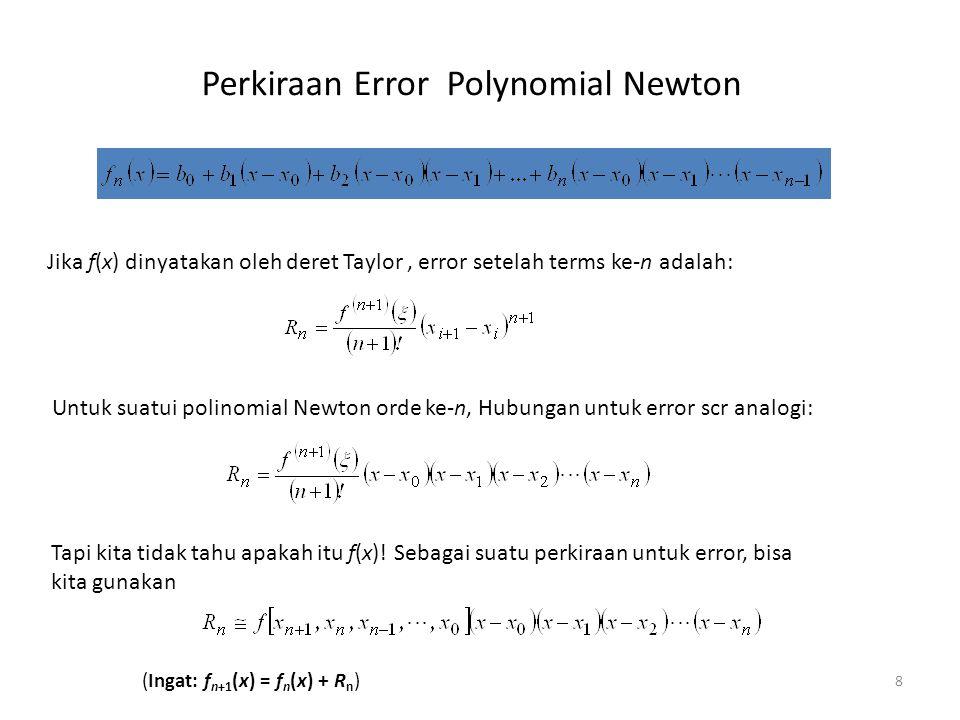 Perkiraan Error Polynomial Newton