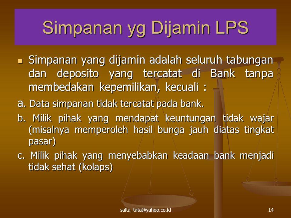 Simpanan yg Dijamin LPS