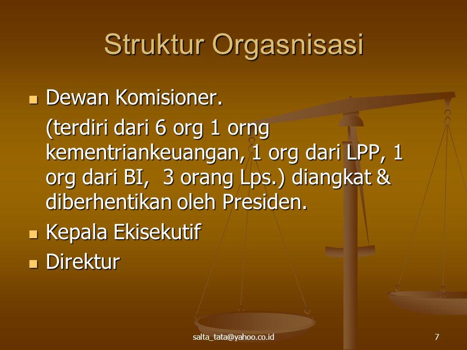 Struktur Orgasnisasi Dewan Komisioner.