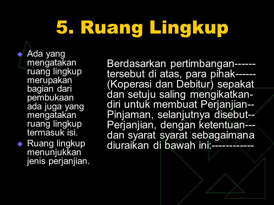 5. Ruang Lingkup