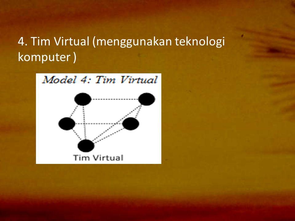 4. Tim Virtual (menggunakan teknologi komputer )