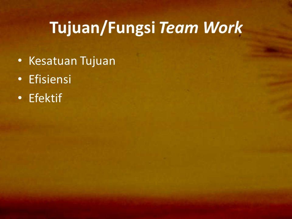 Tujuan/Fungsi Team Work
