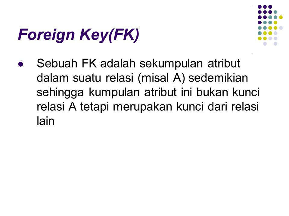 Foreign Key(FK)