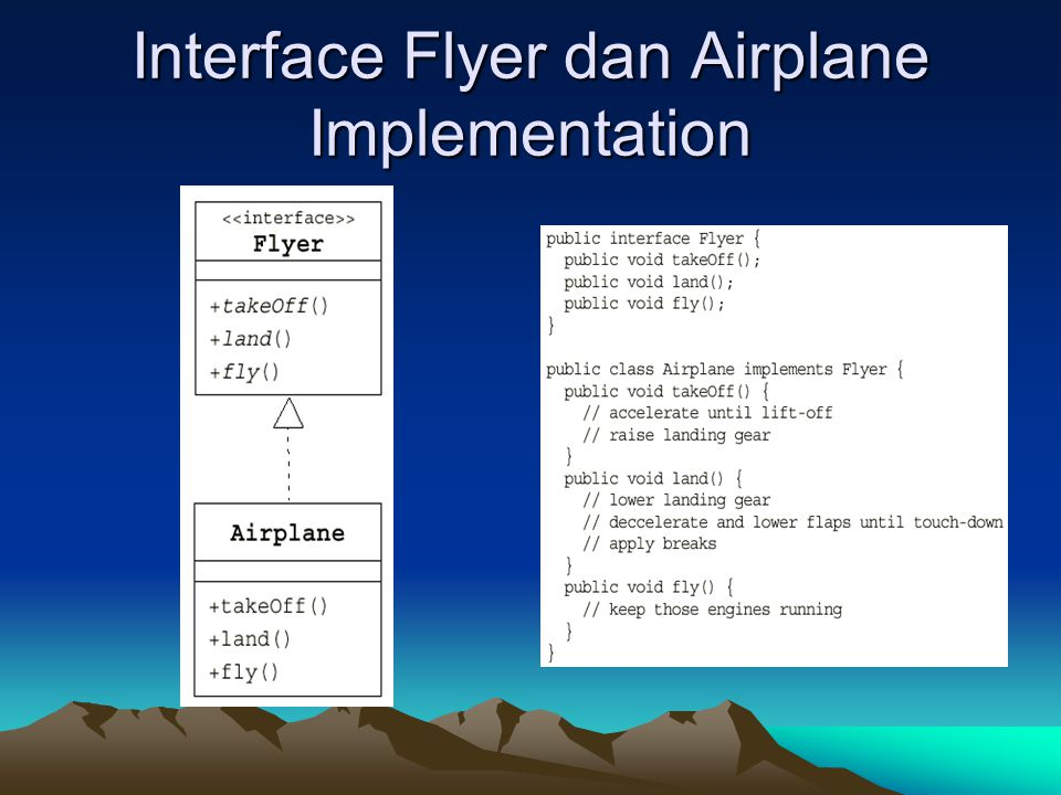 Interface Flyer dan Airplane Implementation
