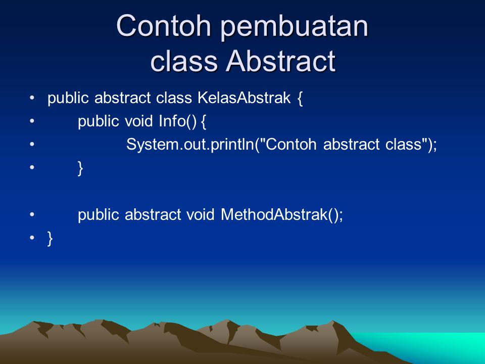 Contoh pembuatan class Abstract