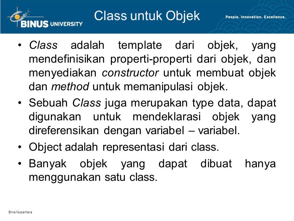 Class untuk Objek