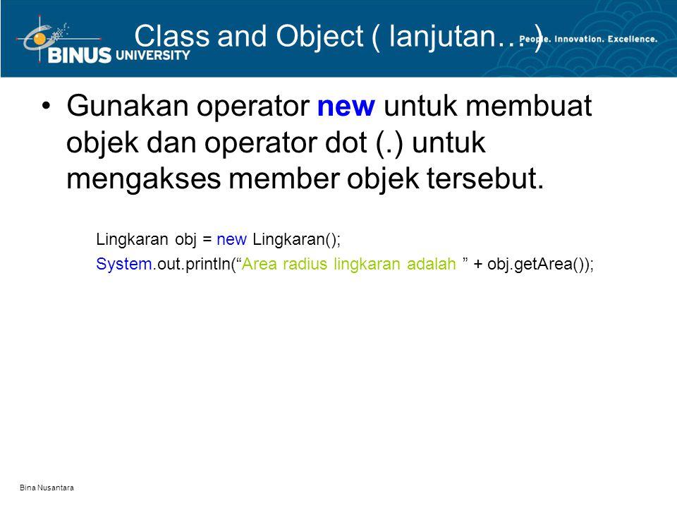 Class and Object ( lanjutan… )