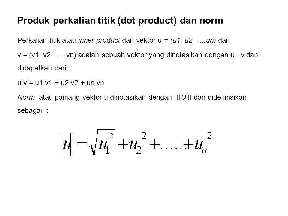 Produk perkalian titik (dot product) dan norm
