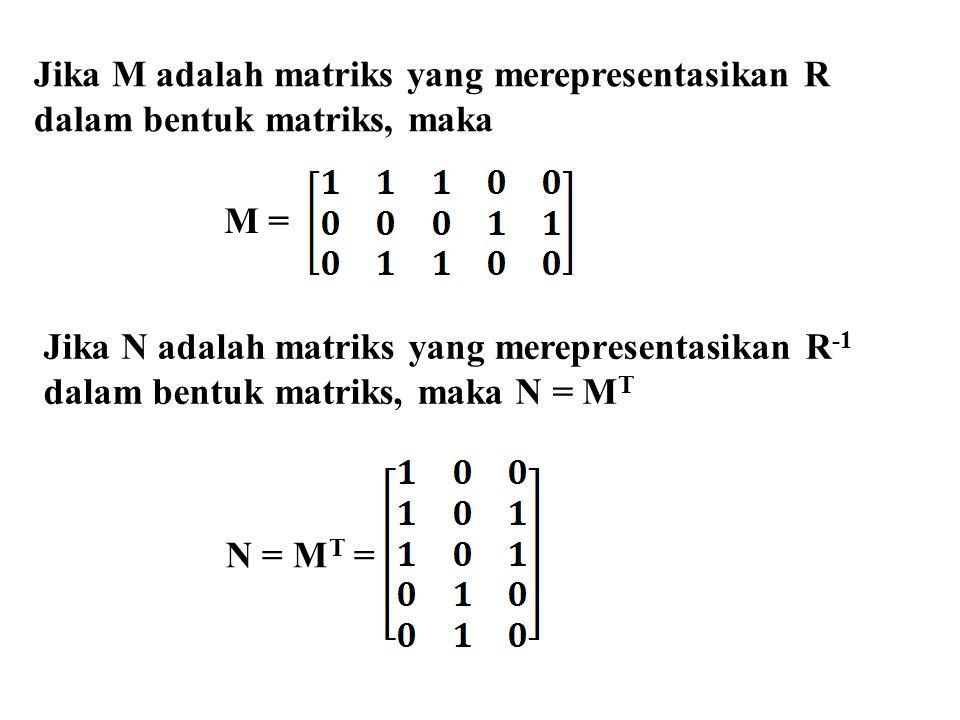 Jika M adalah matriks yang merepresentasikan R