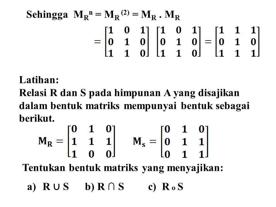 Sehingga MRn = MR (2) = MR . MR