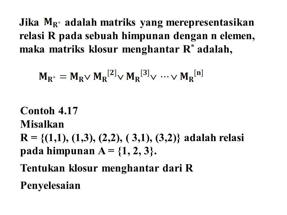 Jika adalah matriks yang merepresentasikan