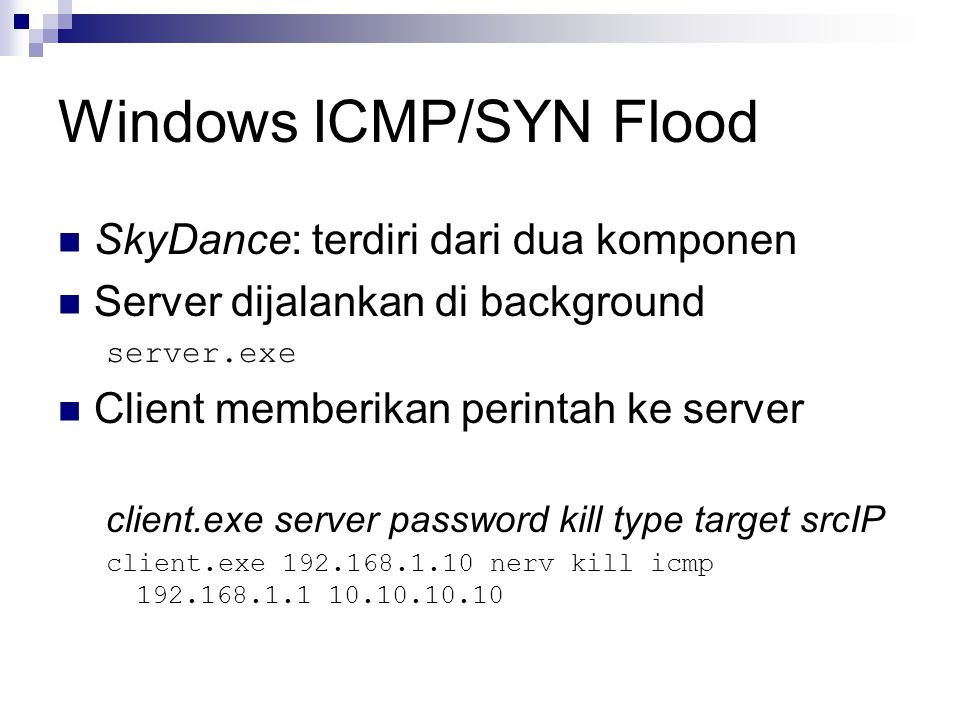 Windows ICMP/SYN Flood