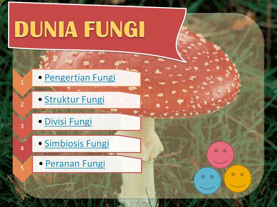 DUNIA FUNGI Peranan Fungi 5 1 Pengertian Fungi 2 Struktur Fungi 3
