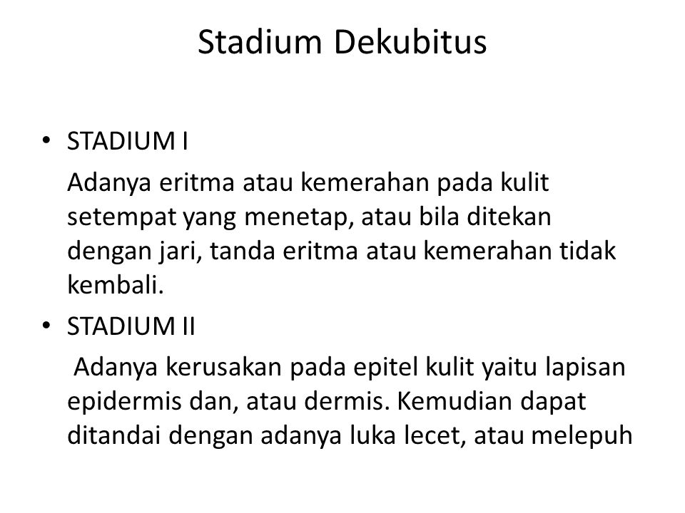 Stadium Dekubitus STADIUM I