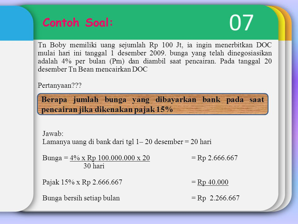 07 Contoh Soal: