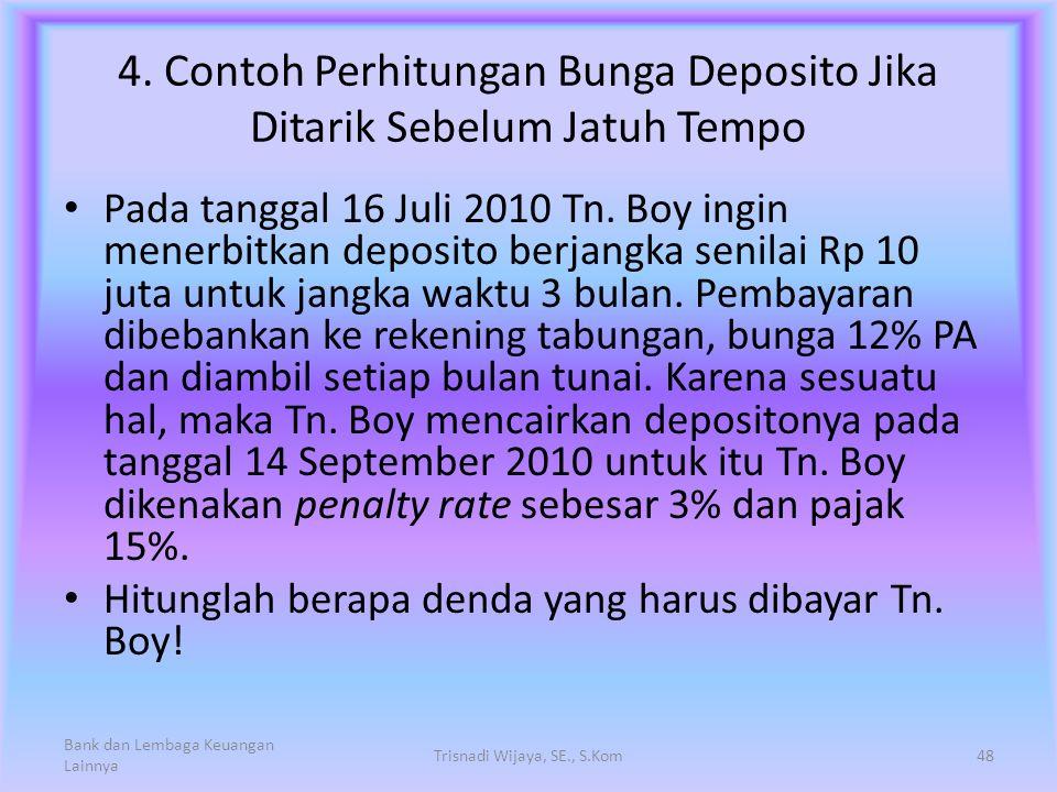 4. Contoh Perhitungan Bunga Deposito Jika Ditarik Sebelum Jatuh Tempo